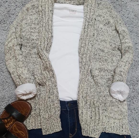 5d818e8e8f Lou   Grey Sweaters -  Lou   Grey  Open Front Knit Cardigan